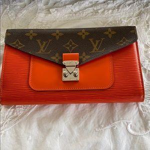 Louis Vuitton Wallet Orange Marie Rose EPI Wallet